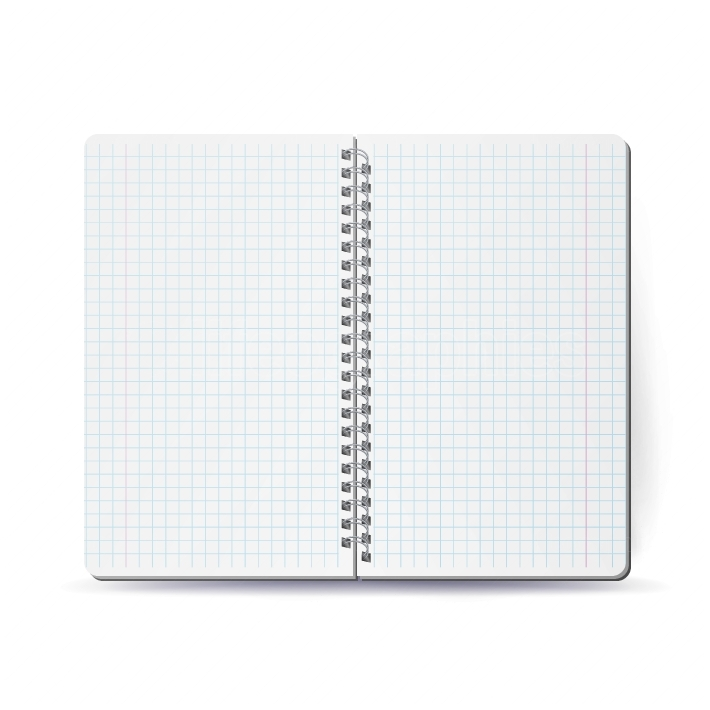 Opened Notebook With Coil Spiral  Vector Spiral Notepad  Clean Mock Up For Your Design  Vector illustration