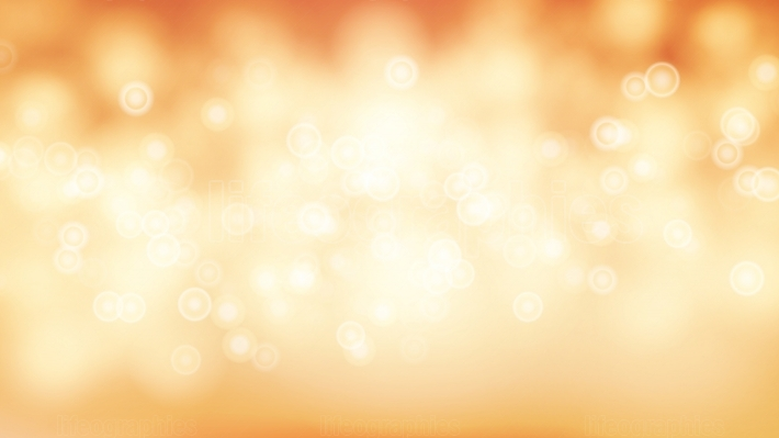 Orange Sweet Bokeh Out Of Focus Background Vector  Abstract Lights On Gold Bokeh Blurred Background