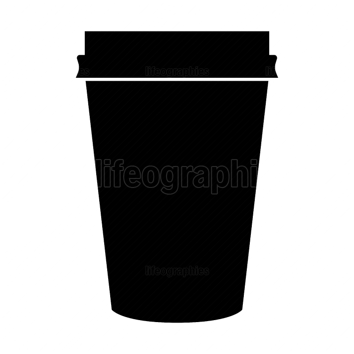 Paper coffee cup black color icon