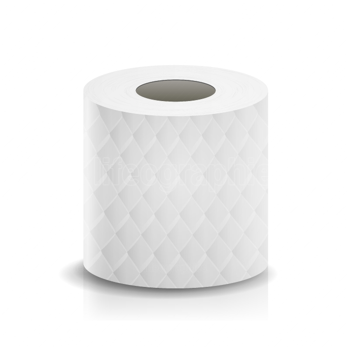 Paper Tape Roll Vector  Bathroom Hygiene  3D Toilet Paper Blank  Packaging Kitchen Towel, Toilet Paper Roll Isolated Illustration