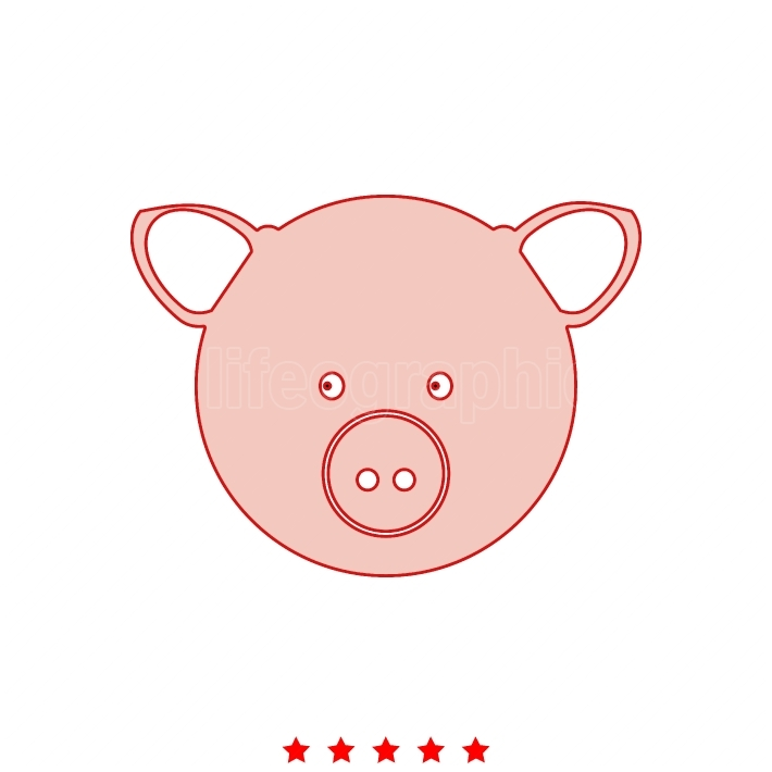 Pig head it is icon