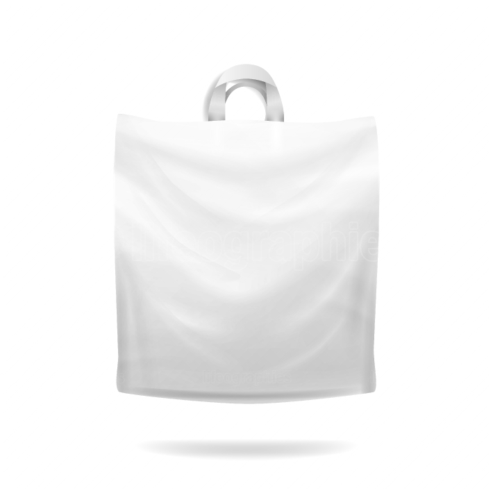 Plastic Shopping Bag Vector  Realistic Mock Up