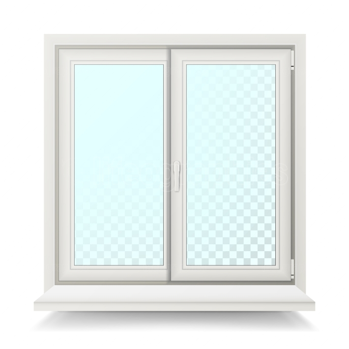 Plastic Window Vector  Home Window Design Concept  Isolated On White Background Illustration