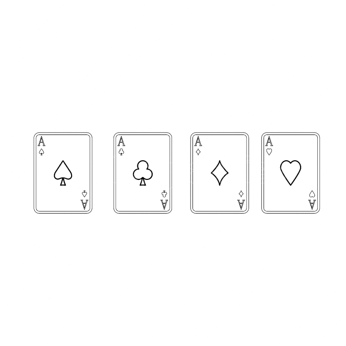 Playing cards black color icon