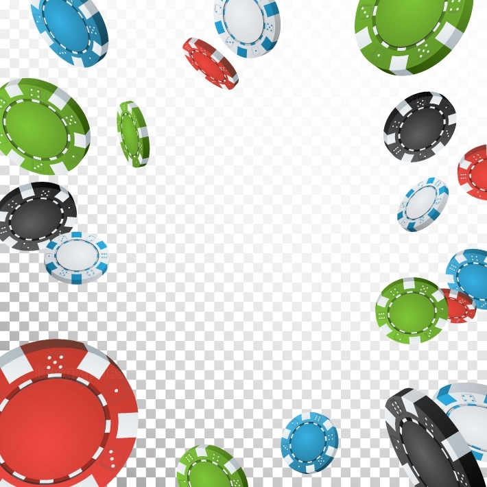 Poker Jackpot Winner Background Vector  Falling Explosion Casino Chips Illustration  For Online Casino, Card Games, Poker, Roulette  Transparent