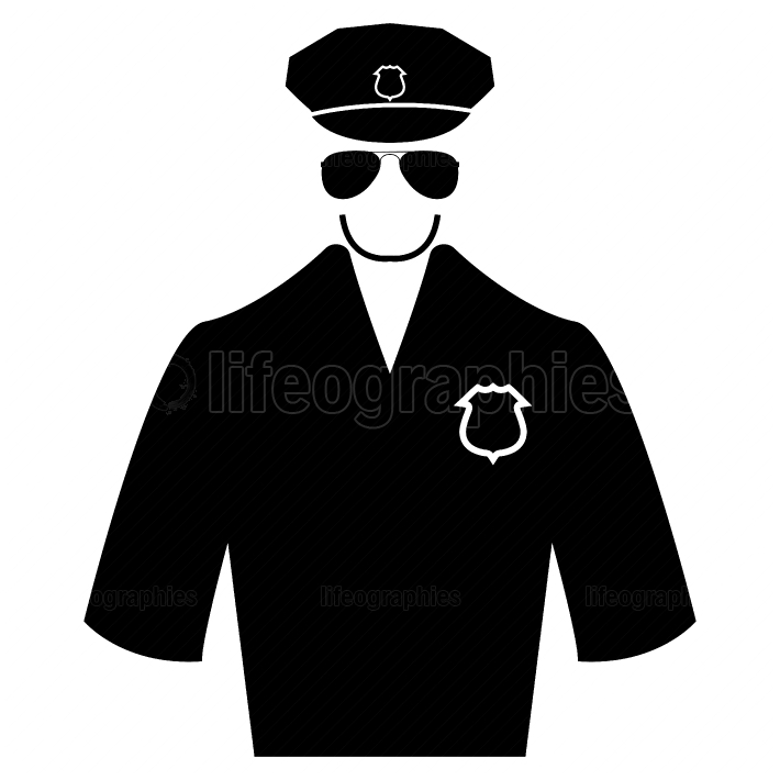 Police black color icon