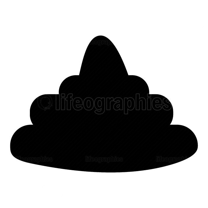 Poo black color icon