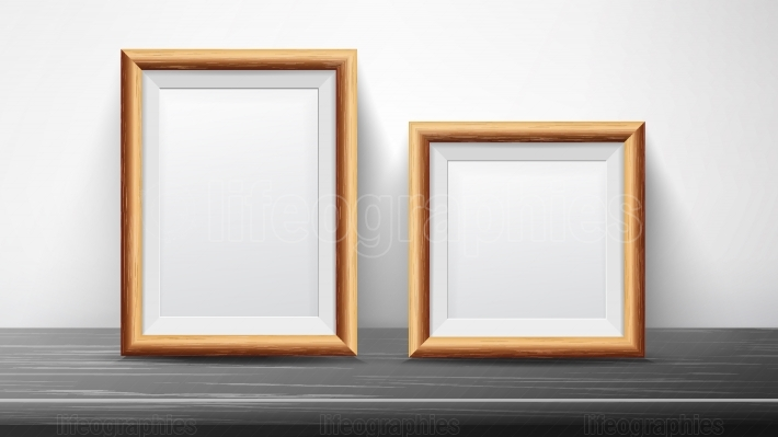 Realistic Black Frame Set Vector  Good For Posters, Presentations, Exhibition  Trendy Interior Illustration