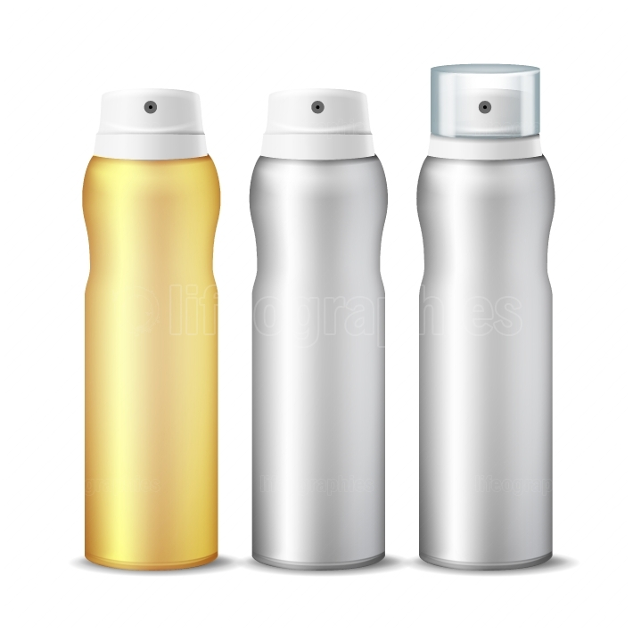 Realistic Cosmetic Spray Can Vector  Aluminium Can