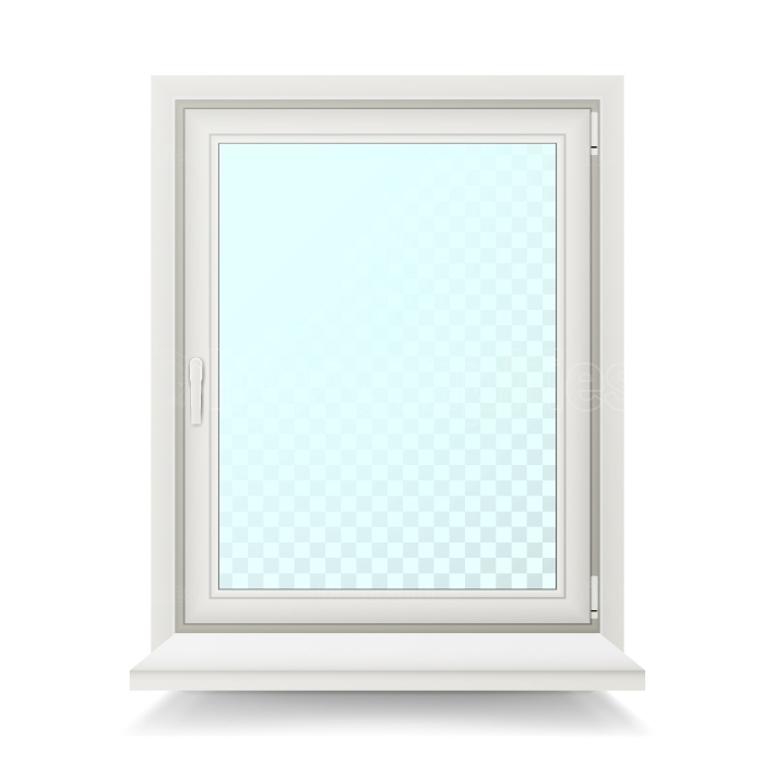 Realistic Plastic White Window Vector  Isolated Illustration