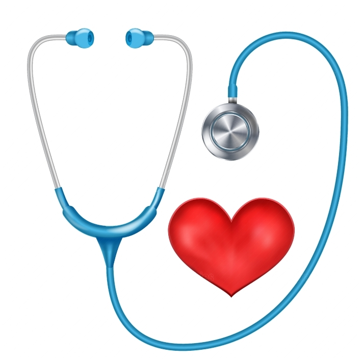 Realistic Stethoscope Isolated Vector  Medical Equipment  Red Heart  Illustration
