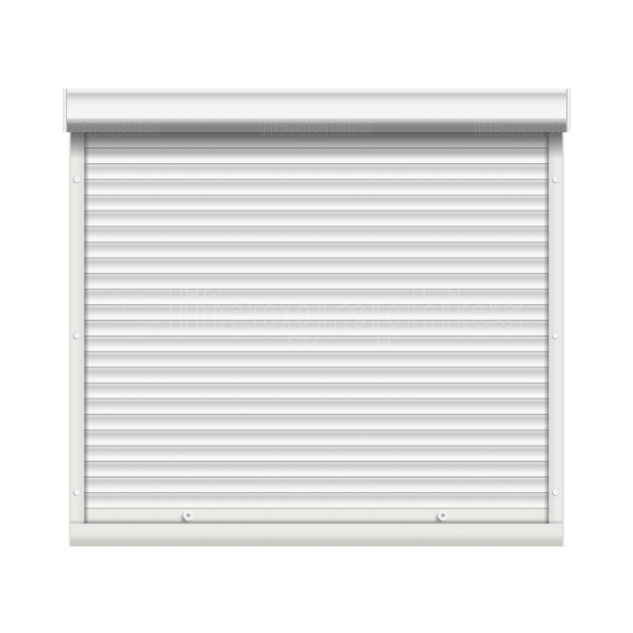Realistic Window Roller Shutters Vector  Front View  Isolated
