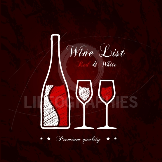 Red and white wine list