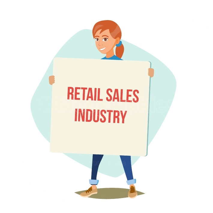 Retail Sales Industry Promoters Vector  Person Standing With Blank Advertising Poster  Expressing Active Position For Rights  Man Holding Empty Board  Cartoon Character Illustration