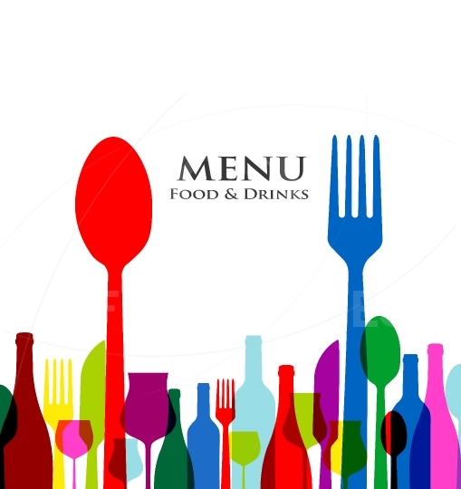 Retro cover restaurant menu designs on white background