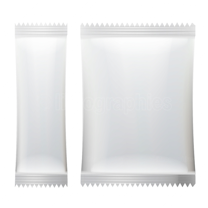 Sachet Vector  White Empty Clean Blank Of Stick Sachet Packaging  Realistic Isolated Illustration