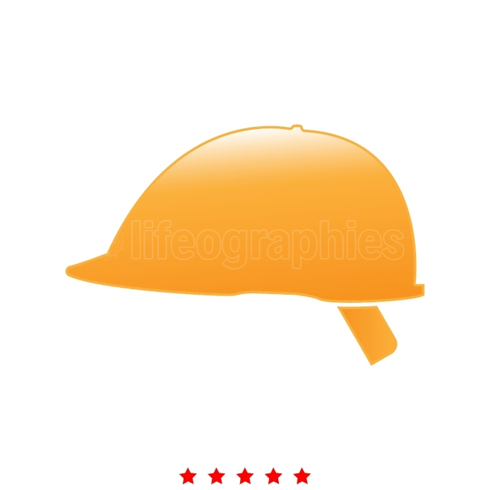 Safety helmet it is icon
