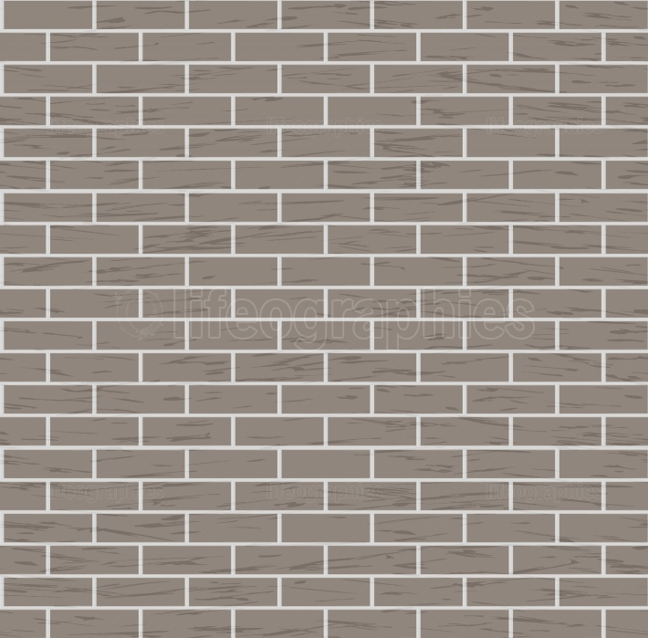 Seamless Brown Brick Wall Vector Background Illustration