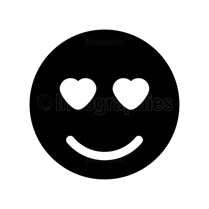 Smile black color icon