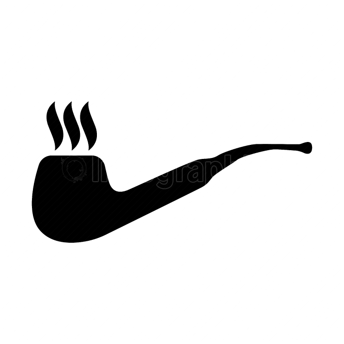 Smoking pipe black color icon