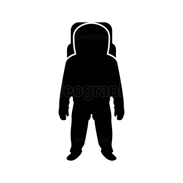 Spaceman black color icon