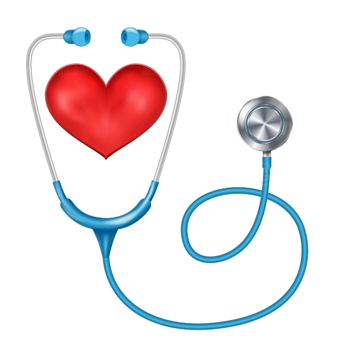 Stethoscope Isolated Vector  Medical Equipment  Red Heart  Health are Concept  Isolated On White Background Illustration