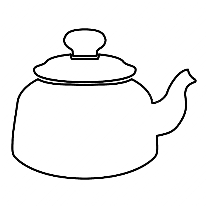 Teapot black color icon