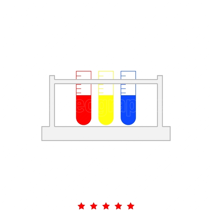 Test tube it is icon