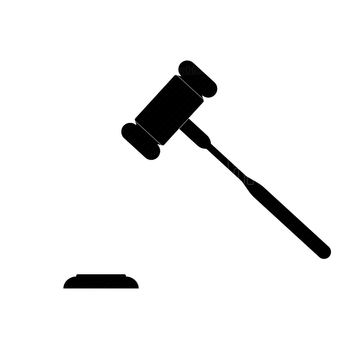 The judicial hammer the black color icon
