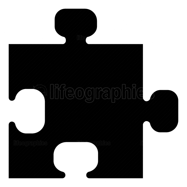 The puzzle black color icon