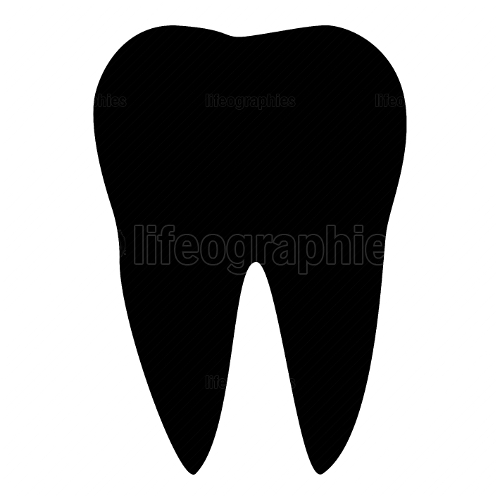 The tooth black color icon