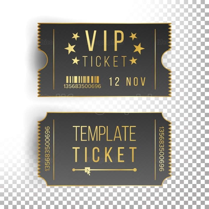 Ticket Template Set Vector  Invitation Coupon  Isolated