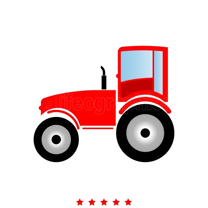 Tractor it is icon