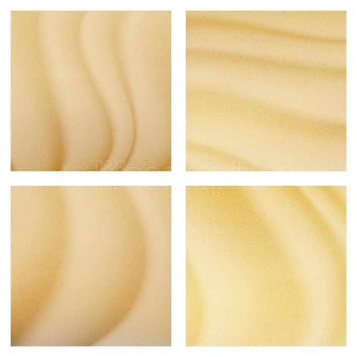 Tropical Desert Dunes Vector Background Illustration  Sand Top View