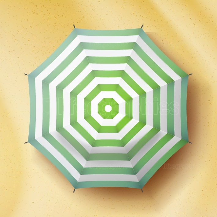 Umbrella Top View Vector  Parasol Top View  Holiday Illustration