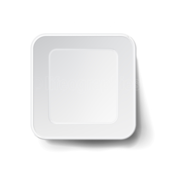 Vector Modern White Plastic Tray  Mock Up Good For Branding Marketing
