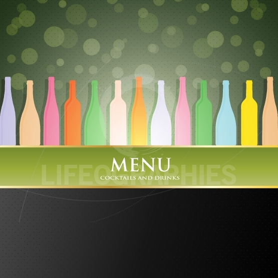 Vector wine menu cover