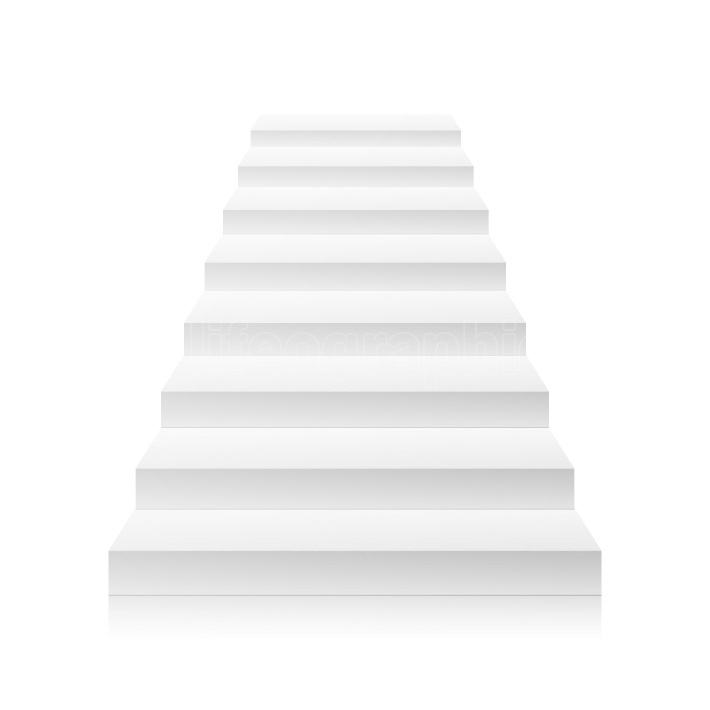 White Empty Staircase Vector  Steps  For Business Progress, Achievement, Growth, Career, Success, Development Concept