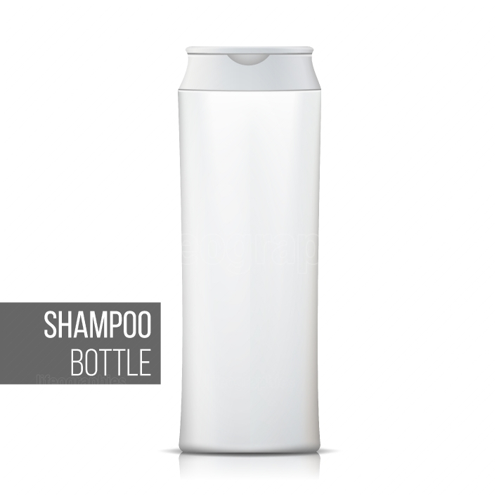 White Shampoo Bottle Vector  Empty Realistic Bottle  Cosmetic Container Packages  Isolated On White Illustration