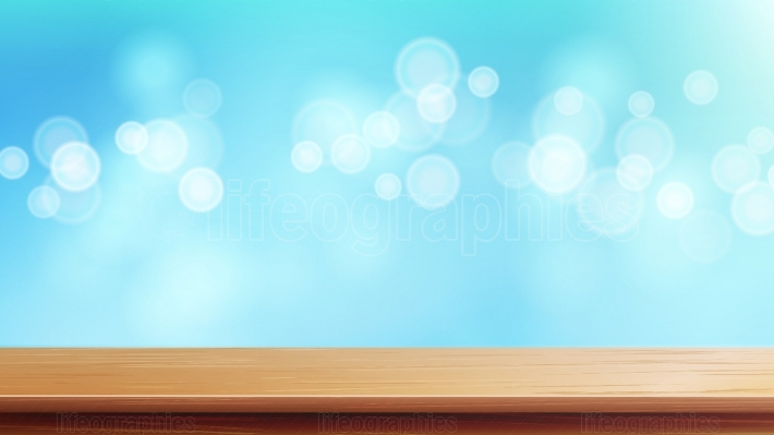 Wood Table Top Vector  Brown Bokeh Abstract Natural Background