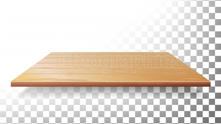 Wooden Table Top, Floor, Wall Shelf Vector  Realistic Wood Texture Isolated