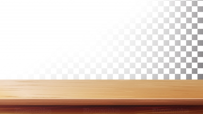 Wooden Table Top Vector  Isolated On Transparent Background