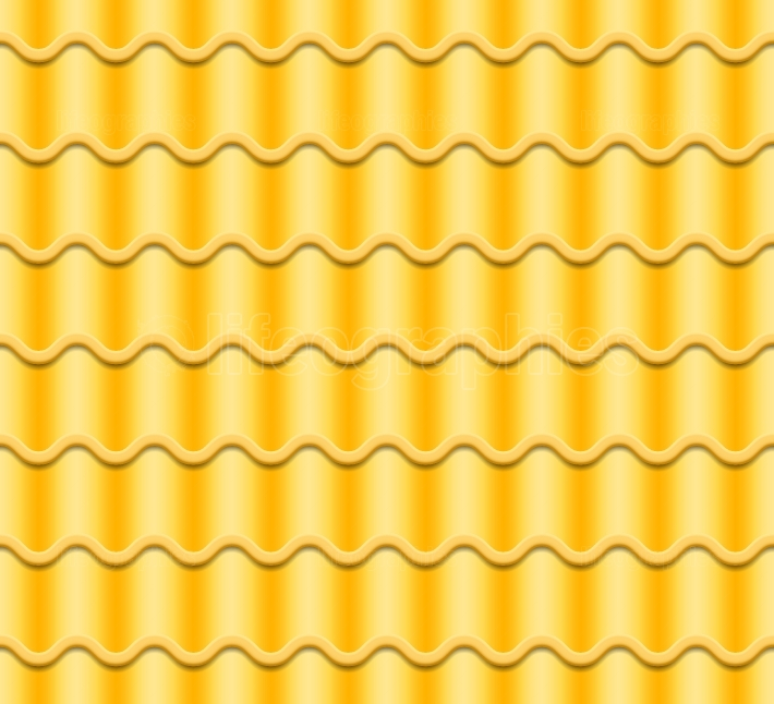 Yellow Corrugated Tile Vector  Seamless Pattern  Classic Ceramic Tiles Cover  Fragment Of Roof Illustration